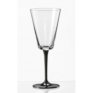 Jive Champagne Glass sprayed black stem 180ml