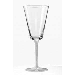 Jive Wine Glass With A Sprayed White Stem - 280 ml