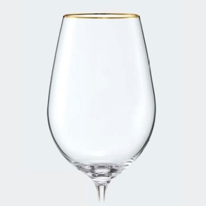 Viola Design Wine Glass With 1mm Gold Rim - 350 ml
