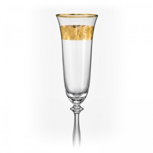 Angela Love Champagne Glass Gold Hearts 190ml